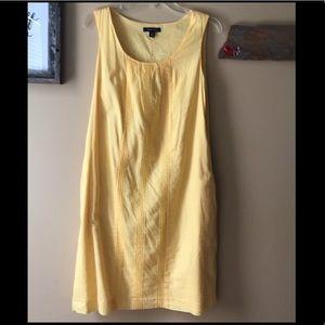 Lands End pale yellow shift dress